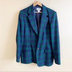 PENDLETON plaid blazer jacket tartan 100% wool 14